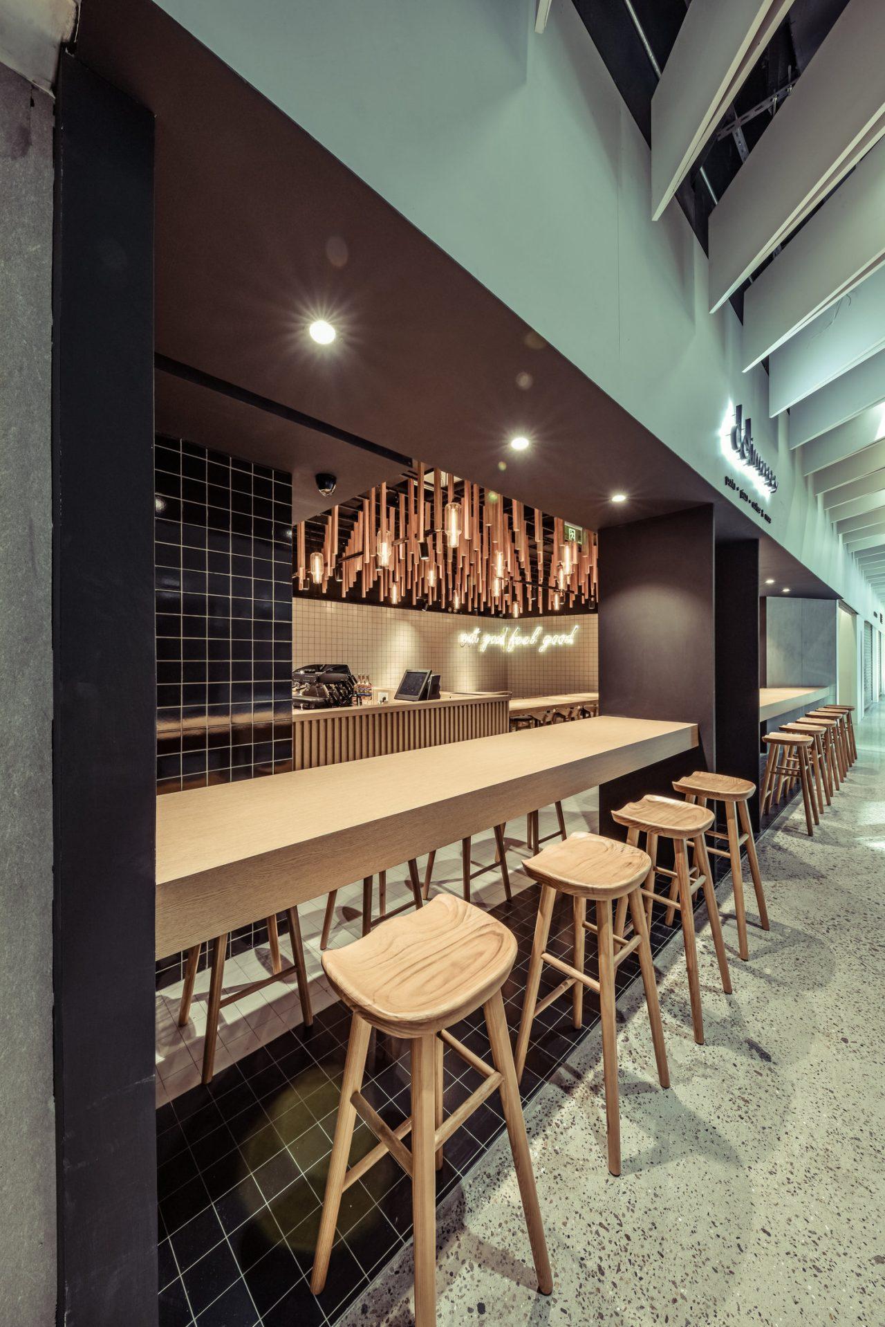 Bar seats & timber rain forest
