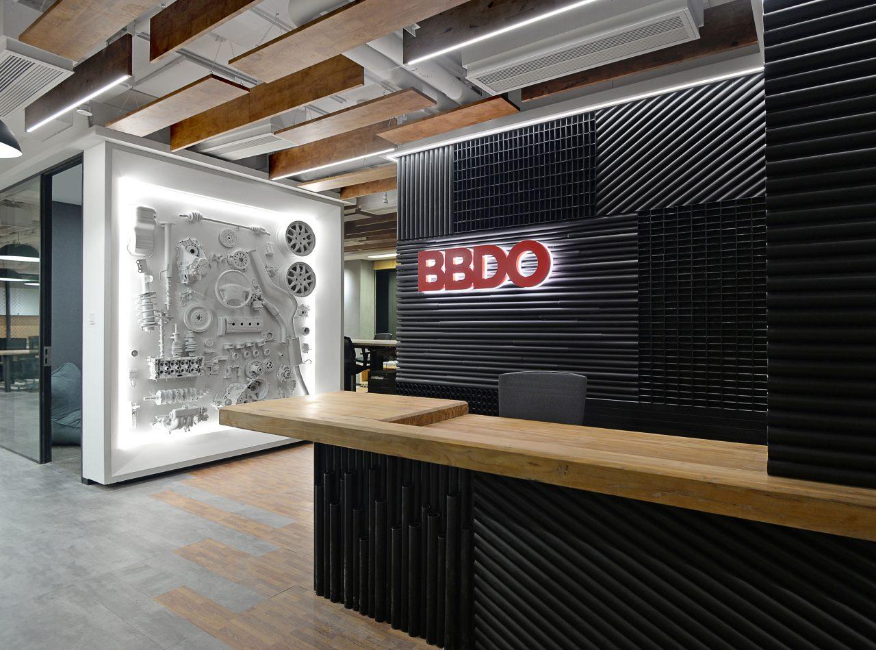 BBDO logo wall