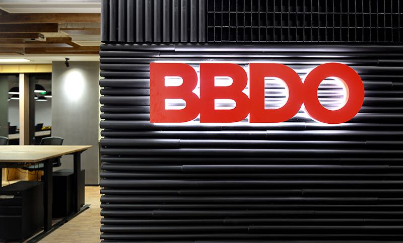 Close up of BBDO logo