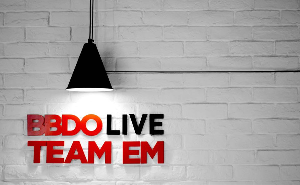 BBDO Live & Team EM logo close up